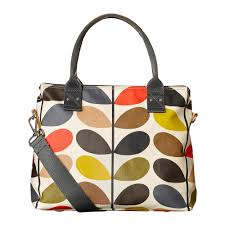 living room orla kiely multi: orla kiely multi stem zip messenger bag