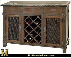Dolcetto Wine Cabinet rustic furniture tuscan themed decor