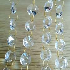 crystal strands for chandeliers crystal garland for chandelier glass beads chain clear beaded strands wedding decoration crystal strands for chandeliers