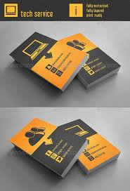 tech business card business card design graphicriver tech service business card