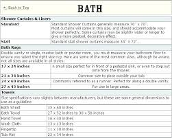 Shower Curtain Size Chart Walk In Shower Curtain Like An Curtains Cotton Safe Step Tub