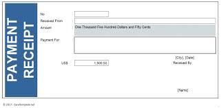Payment Received Receipt Template Template Payment Received Receipt Template 6