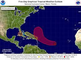 Atlantic Basin Hurricane Tracking Chart National Hurricane Center Miami Florida Weather Matters