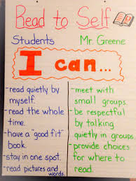 Daily 5 Read To Self I Chart Second Grade Read To Self