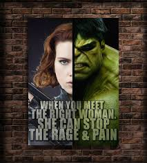 Hulk Quotes Awesome Avengers Favors Print Quotes Black Widow And Hulk Art