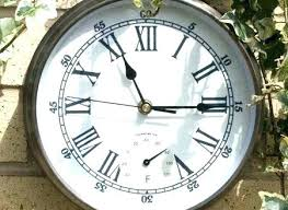 outdoor clock large outdoor clocks and thermometers co amazing clock thermometer set with regard to outdoor