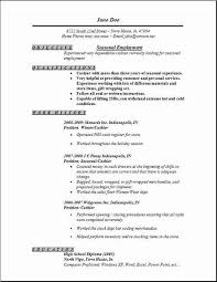sample job resumes seasonal employment resume occupational examples samples free edit