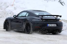 Porsche 718 Cayman GT4 Spy - Rear
