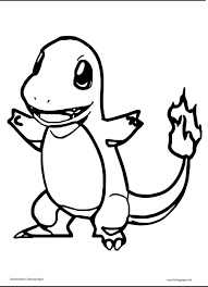 Small Picture Charmander Coloring Pages Charmander Pokemon Coloring Pages For