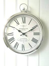 large kitchen clocks large silver round pocket watch wall clock station new boxed large kitchen clocks
