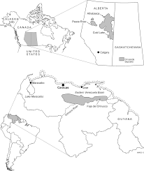 Figure 5 8 location of major global oil sands deposits in athabasca canada and the orinoco oil belt venezuela