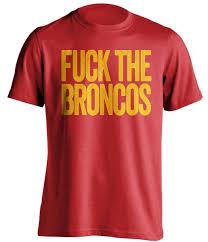 Kansas Broncos City T-shirt Text - The Fuck Chiefs Design