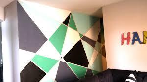 Geometric Wall Paint DIY - YouTube
