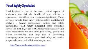 Food Safety Specialist Food Safety Specialists
