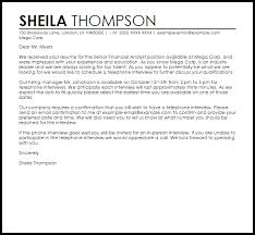 Letter To Interview Phone Interview Letter Example Letter Samples Templates