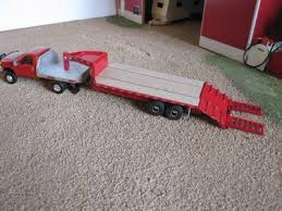 custom 1 64 scale ford f 350 truck with gooseneck trailer with fold down rs