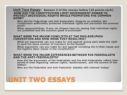 unit two lesson fourteen ppt video online  unit two essay answer 2 of the essays below 10 points each