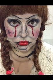 my makeup facepaint of creepypuppet annabelle doll from the blood fakeblood funpic twitter qreghoraht