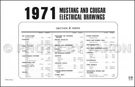 1971 ford mustang mercury cougar factory wiring diagram original 71 Ford F100 Wiring Lamp 1971 ford mustang mercury cougar factory wiring diagram original 72 Ford F100