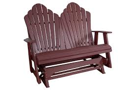 poly lumber double glider fancy back eco friendly recycled plastic poly lumber outdoor furniture