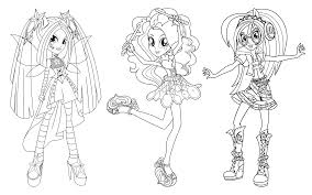 Equestria Girls Rainbow Rocks Coloring Pages Getcoloringpagescom