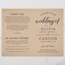 Wedding Ceremony Brochure What Should Be In Your Wedding Program Plus 12 Of Our