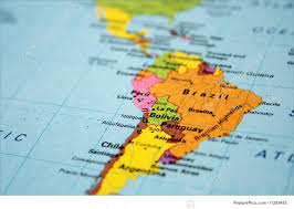Map Of South America Continent Royalty Free Stock Picture