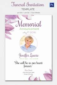 Memorial Service Invitation Template Interesting Memorial Service Invitations Template Inspirational Memorial Service