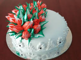 Russian Flower Theme Cake Cake Delivery From Madurai Best Bakery