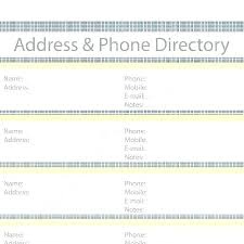 Address Book Template Free Numbers Address Book Template