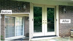replace patio doors great how to install door sliding glass with heritage window windo