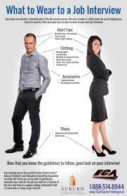 what to wear to a job interview infographic