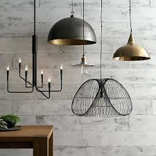 crate and barrel hudson pendant best images about home lighting on drum shade intended for crate