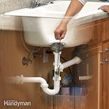 How To Clean Bathroom Sink Drain Delectable Unclog A Kitchen Sink The Family Handyman