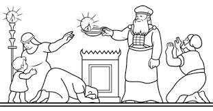 Celebrating Hanukkah coloring page | Free Printable Coloring Pages