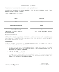 Simple Contractor Agreement Template Independent Contractor Agreement Template Free