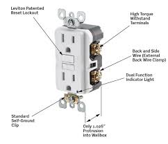 leviton gfci wiring diagram wiring diagrams best leviton n7599 w 15 amp 125 volt smartlock pro slim non tamper leviton motion sensor light switch install diagram leviton gfci wiring diagram
