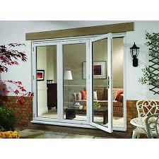 bifold patio doors. Wickes Millbrook Upvc External Bi-fold Door Set White Left Opening Bifold Patio Doors
