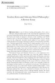 moral essay teodros kiros and africana moral philosophy a review  teodros kiros and africana moral philosophy a review essay document is being loaded