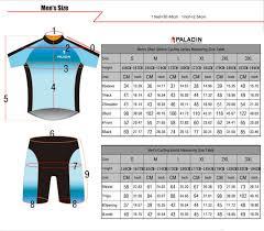 Paladin Cycling Jersey Size Chart Us 23 98 35 Off Paladin