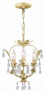 wrought iron champagne mini chandelier
