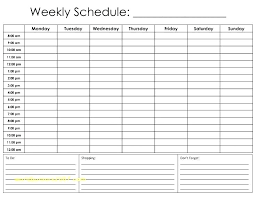 Daily Schedule Planner Template X Hourly Excel Day Top