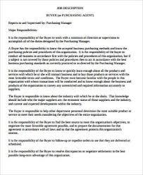 8+ Purchasing Agent Job Description Samples | Sample Templates