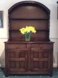 welsh dutch dresser dark oak 2 drawers 2 cupboard drawers shelves above