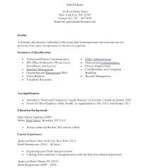 Resume Objectives For Receptionist Resume Samples For Medical