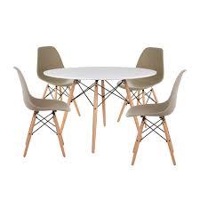 Set 4 Stühle Tisch Ims ø120 Sklum