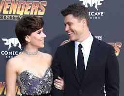 Scarlett Johansson And Boyfriend Colin Jost Make Their Red Carpet