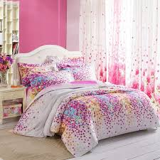 bed sets for teens purple.  Bed Purple White Yellow And Blue Lilac Floral Print Full Queen Size Durable  Toile Bedding Sets For Girls  EnjoyBeddingcom To Bed For Teens