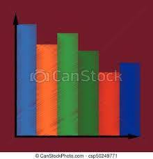 Flat Shading Style Icon Economic Chart