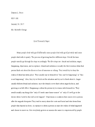 grief research paper grief applied psychology